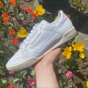 Brand New All White Adidas Continentals
